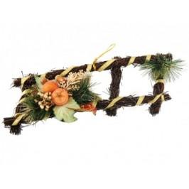 Красива декорация от сплетени дървени клонки с тематична аранжировка