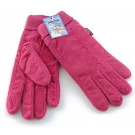 Красиви и удобни дамски ръкавици от мек велур с еластични плетени части