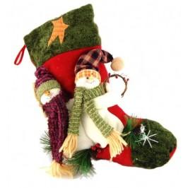 Декоративен коледен чорап - 50см