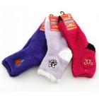 Цветни зимни чорапи от полар с декорация