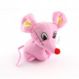 Плюшена фигурка розова мишка 10см