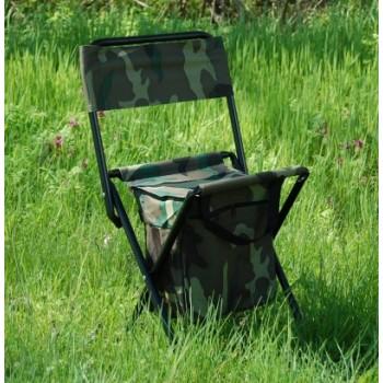 Сгъваемо столче, носеща конструкция - метал, седалка - текстил