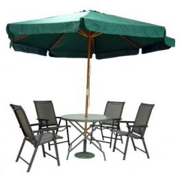 Комплект сгъваеми градински мебели с метална конструкция