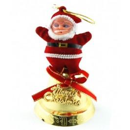 Декоративна фигурка Дядо Коледа върху камбанка за окачване