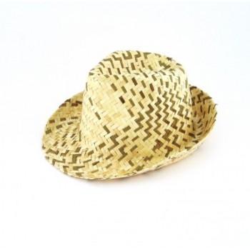 Плетена лятна шапка - двуцветна