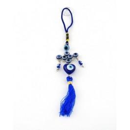 Сувенир синьо стъклено око - за окачване