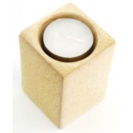 Свещ с керамичен сувенирен свещник