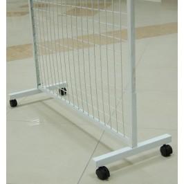 Комплект от два броя подвижни метални поставки за стелаж