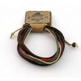 Кожена гривна приплетена с въже