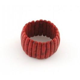 Красива гривна от коралови плочки - 4см
