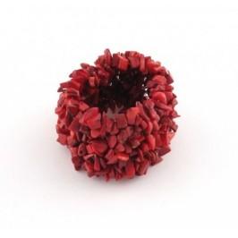 Красива гривна от коралови нанизи на ластична основа