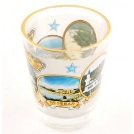 Сувенирна стъклена чаша с декорация