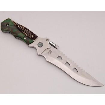 Ловен нож с декоративна дръжка и калъф