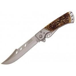 Сгъваем джобен нож с дръжка, имитация на слонова кост и калъф