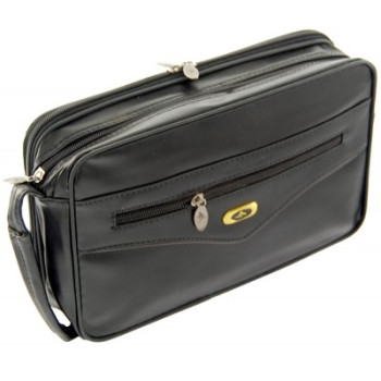 Мъжка мини чанта - еко кожа с три ципа