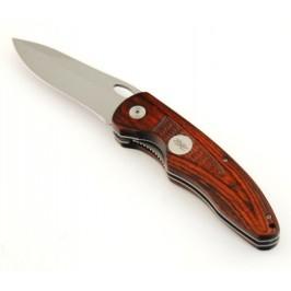 Сгъваем джобен нож с дървена дръжка и калъф
