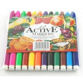 Комплект цветни флумастри - 12 броя