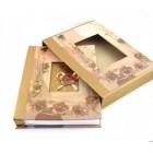 Луксозен фотоалбум с цветя 29х21см в кутия