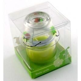 Ароматна свещ в стъклен свешник - 8х7см