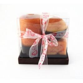 Комплект три ароматни свещи - форма цилиндър, куб и сфера