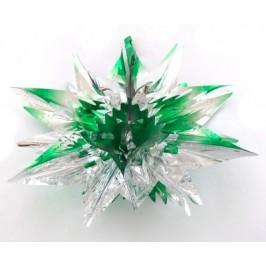 Красива коледна звезда изработена от блестящо фолио, сгъваема