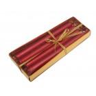 Красив комплект от 4 броя блестящи свещи в кутия