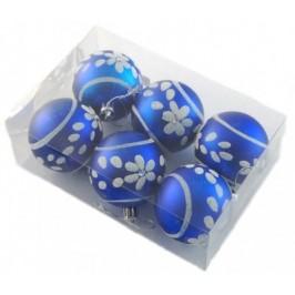 Комплект цветни коледни топки за окачване на елха, декорирани с брокат и камъчета, 3бр