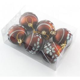 Комплект цветни коледни топки за окачване на елха, аранжирани с брокат и декоративни камъчета