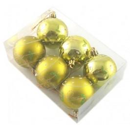 Комплект цветни коледни топки за окачване на елха, декорирани с брокат, 3бр