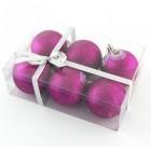 Блестящи коледни топки с цветни декорации за окачване на елха