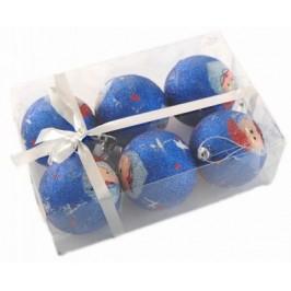 Коледен комплект топки за окачване на елха с цветна щампа - Дядо Коледа