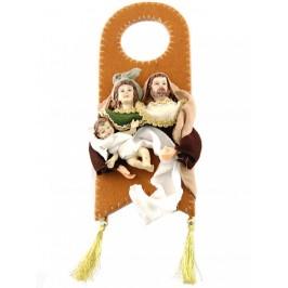 Коледна украса за окачване с фигурки на Дева Мария, Йосиф и малкия Иисус