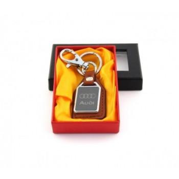 Ключодържател метал и кожа Audi в луксозна кутия