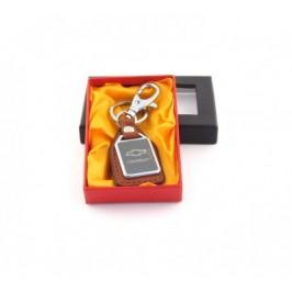 Ключодържател метал и кожа Chevrolet в луксозна кутия