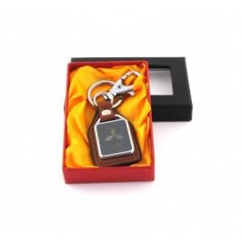 Ключодържател метал и кожа Mitsubishi в луксозна кутия