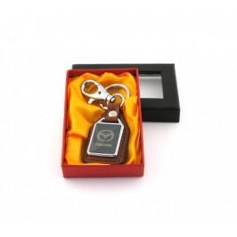 Ключодържател метал и кожа Mazda в луксозна кутия