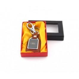 Ключодържател метал и кожа Ford в луксозна кутия
