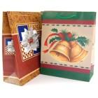 Коледна подаръчна торбичка картон 157гр