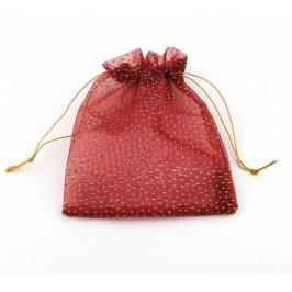 Луксозна подаръчна торбичка тюл с декорации