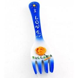 Декоративна фигурка вилица с магнит - 11см