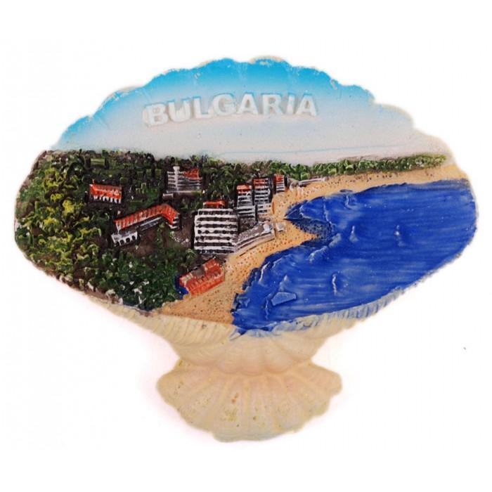 Декоративна гипсова фигурка с магнит - мида - морски залив
