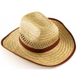 Плетена лятна мъжка шапка с текстилен кант