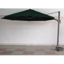 Градински чадър със странично рамо механизъм за разпъване и проветрение