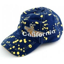 Спортна шапка от плат с козирка и апликация