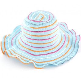 Красива дамска шапка текстил с голяма периферия