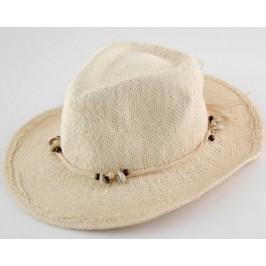 Лятна плетена дамска шапка с декорация миди