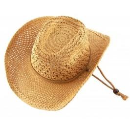 Лятна плетена шапка с регулиращи връзки и декоративен кант
