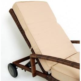 Подвижна лежанка с плетена рамка - PVC ратан и възглавници