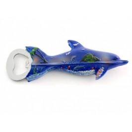 Сувенирна фигурка делфин с магнит и отварачка - 14см х 2
