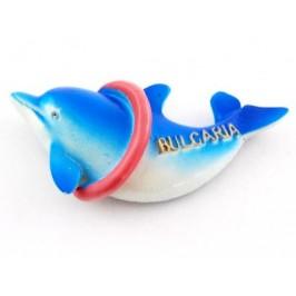 Сувенирна фигурка делфин с магнит - 7см